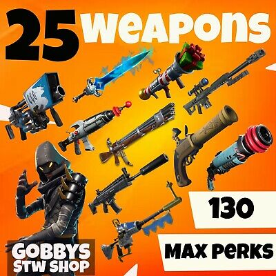 FORTNITE Save The World - 25 x pl130 GODROLL GUNS / WEAPONS - SALE! -PC PS4 XBOX