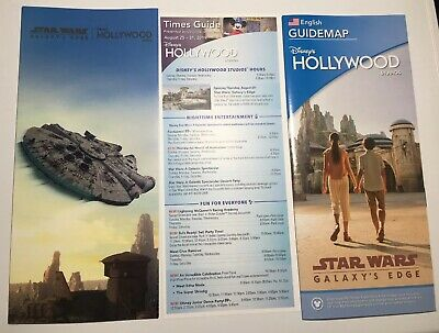 Star Wars Galaxy's Edge Opening Disney 2 Park Maps + Time Guide Studios Aug 29