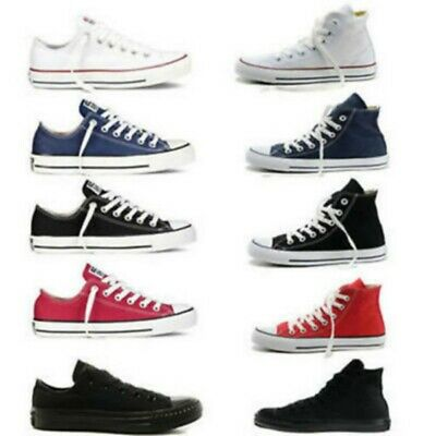 Womens Mens Authentic Classic Casual Low High Top Canvas Shoes Athletic Sneakers