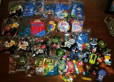Lot Of 38 McDonalds Happy Meal Toys--Toy Story 4 Furby Marvel and More