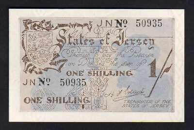 JERSEY P-2a. WW.11 German Occupation. (1941-42) One Shilling.. aUNC