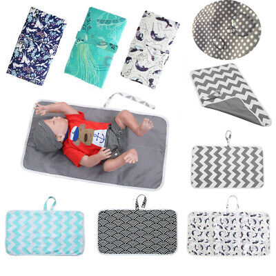 Baby Portable Foldable Washable Travel Nappy Diaper Changing Mat Waterproof Mat