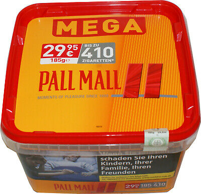 Pall Mall Volumen-Tabak allround Red  Mega Box 185g Preis  29,95€