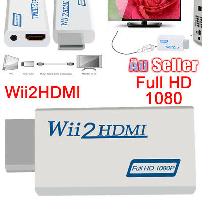 Wii HDMI Adapter 3.5mm Audio Output 1080p HD to Converter Video