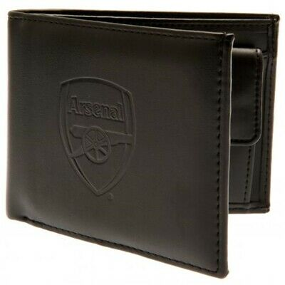 Arsenal Football Club Official Leather Wallet Rfid Protection Team Crest Badge