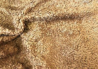 CURLY Teddy Faux Fur Fabric Material - TEDDY BROWN