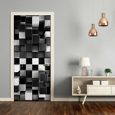 46114978ww Awesome 3D optical illusion cubes window wall sticker wall mural