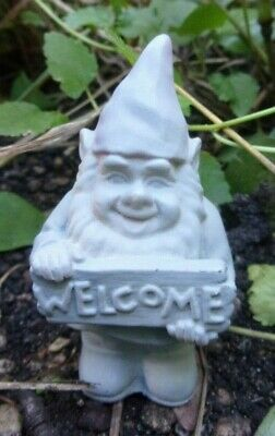 """Latex tiny gnome mold plaster cement casting mould 3""""H x 1"""" thick"""
