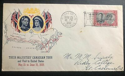 1939 Royal Train Canada First Day Cover FDC King George VI Canadian Tour