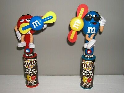 2 x M&M's LIGHT UP CANDY FANS - DIFFERENT CHARACTERS