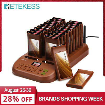 Retekess T116 Wireless Paging Queuing System Restaurant Pager 1 Transmitter + 20