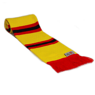 fan originals Retro Football Bar Scarf in Watford Colours Yellow Red Black