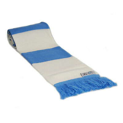 fan originals Retro Football Bar Scarf in Manchester City Colours Blue White