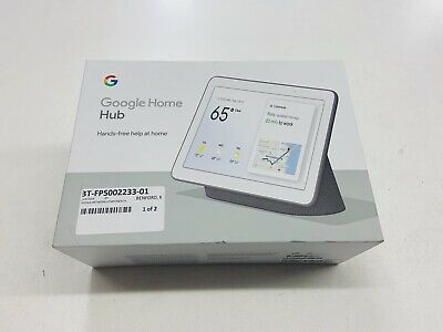 Google Home Hub - Now the Google Nest Hub - Hands-free help at home --Charcoal