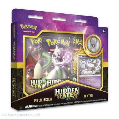 Pokemon TCG: Hidden Fates Pin Collection - Mewtwo :: Brand New And Sealed!