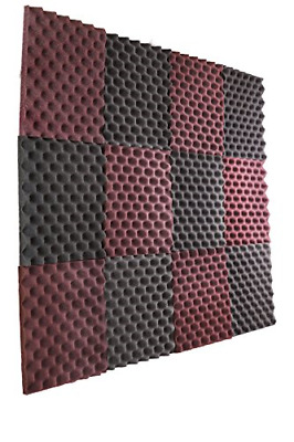 12 Pack Music Room Wall Panels Sound Proofing Foam Pads Acoustic Studio Decor US