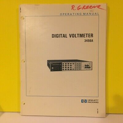 HP / Agilent  03456-90006 3456A Digital Voltmeter Operating Manual