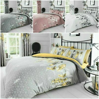 Duvet Cover with Pillow Case Quilt Feather Bedding Set Single Double King S King