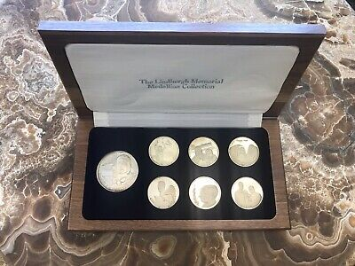 Charles Lindbergh Silver Medallion Collection - Original Box Sterling Silver 925
