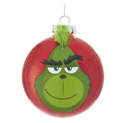 Define Naughty How the Grinch Stole Christmas Disc Tree Ornament GRH1185 New