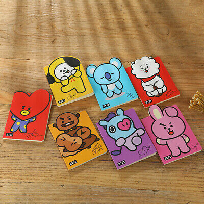 Kpop BTS Bangtan Boys Notebook BT21 TATA Cute Cartoon Diary NoteBooks Stationery