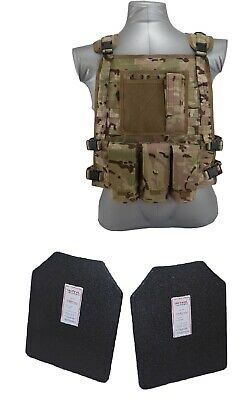 Tactical Scorpion Body Armor Wildcat Carrier + Level IIIA Hard Plates Multicam