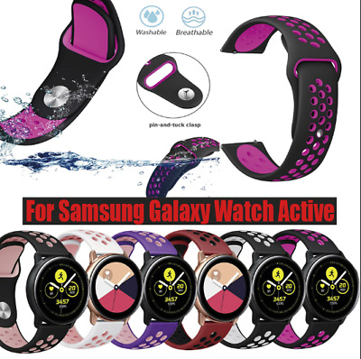Large Silicone Replacement Band Wrist Strap For Samsung Galaxy Watch Active
