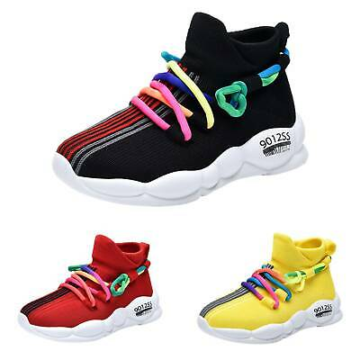 Kids Boys Girls Sports Shoes Casual Sneakers Running Athletic Walking Trainers