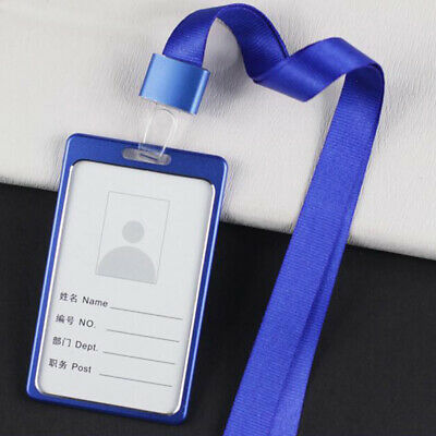 Staff Colorful Neck Strap Soft Cotton Lanyard  ID Card Clip Clamp CZ