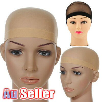 2x Control Hair Net Wig Wearing Wigs for Stocking Cap Soft Fabric 2 Colours
