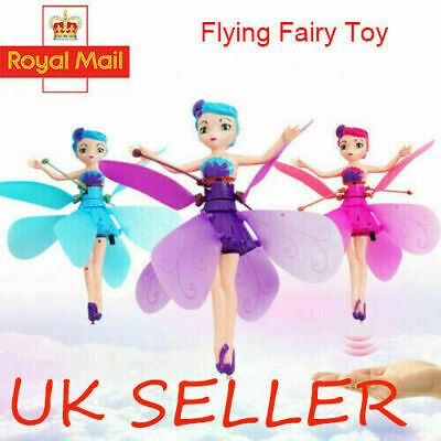 Flying Fairy Princess Doll Infrared Induction Control Toy Xmas Halloween Gift VU
