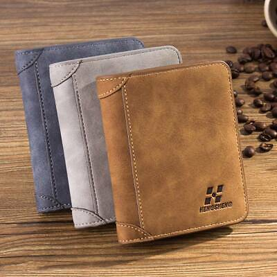 Mens Leather Wallet RFID Top Quality Soft Credit Card Holder Purse Clutch Bifold