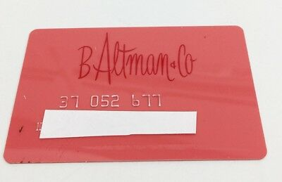 Vintage B ALTMAN & CO  New York  Department Store Credit Charge Card 1960s -70s
