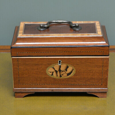 Fine Quality Georgian Mahogany Inlaid Box