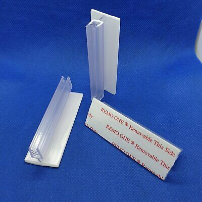 Hinged Card Gripper 25mm Base Removable Adhesive Pack of 100