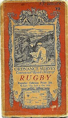Ordnance Survey Map No 73 RUGBY - 1920 - cloth