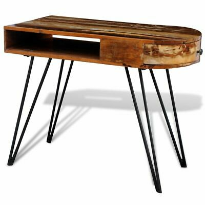 Reclaimed Solid Wood Computer Desk Home office Table Iron Pin Legs Pure Handmade