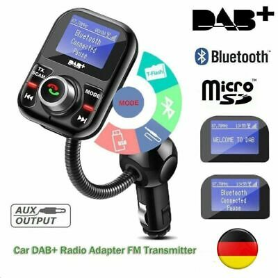 Auto DAB DAB +Radio Receiver LCD Screen FM Transmitter Adapter USB Bluetooth AUX