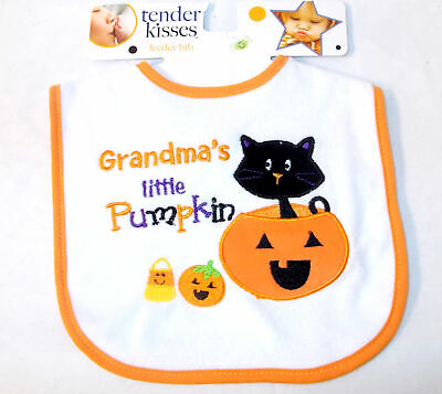 "Tender Kisses /""Baby/'s First Thanks-giving/"" Orange//Multi Color Feeder Bib"