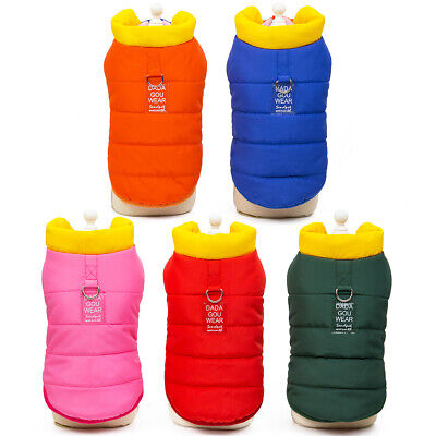 2019 Winter Dog Clothes Vest Padded Jacket Warm Small Puppy Coat Apparel S-XXL