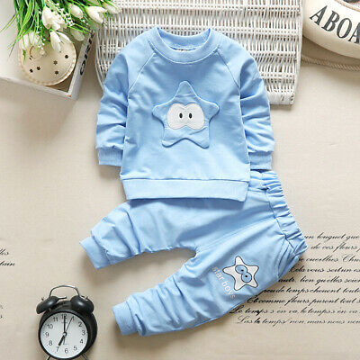 Baby boys girls pullover Outfit Tracksuit 2pcs Outfit Cotton kids Tracksuit Set