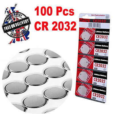 100 x CR2032 BR2032 DL2032 Branded 3V LITHIUM Coin Cell Button Batteries