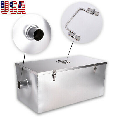 Grease Trap Interceptor Stainless Steel Filter For Restaurant Dining 13GPM 25LB