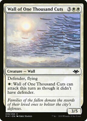 Wall of One Thousand Cuts x4 Common Modern Horizons MTG Magic the Gathering NM