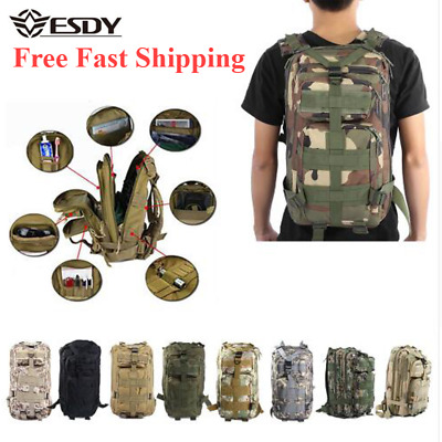 30L Men Military Tactical Backpack Oxford Outdoor Sport Hiking Camping 3p