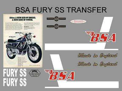 BSA Dandy Scooter Transfers Set Decals Motorcycle Moped