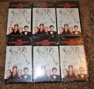 Mixed Lot 6 Carol Burnett Show Vhs Tapes Collectors Edition Sealed Jackson 5