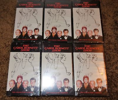 Mixed Lot 6 Carol Burnett Show Vhs Tapes Collectors Edition Still Sealed Pointer