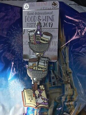 Disney EPCOT Food & Wine Festival 2019 Figment Limited Edition LE Pin SOLD OUT