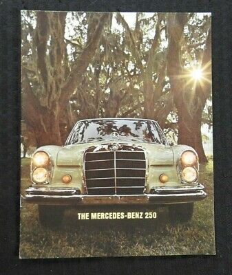 "1966 ""The Mercedes Benz 250 250S 250Se"" Catalog Sales Brochure Very Nice Shape"
